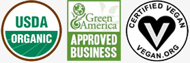 USDA Organic - A Green Business - Vegan Certified